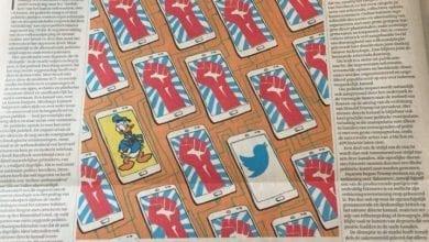 Photo of 'Disruptie van de democratie' (Financieel Dagblad, 20-01-'18)